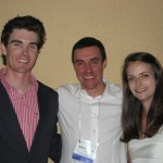 Dr. Caleb Hudson, Dr. Antonio Pozzi and Dr. Laura Cuddy are shown at the recent Veterinary Orthopedic Society meeting.