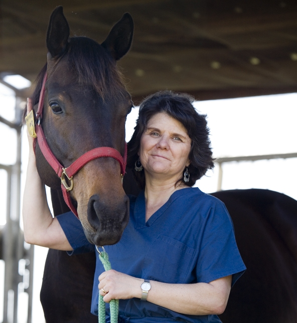 Dr. Maureen Long with horse