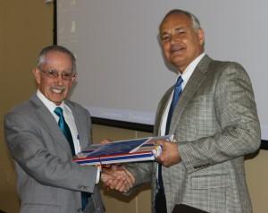 Dr. Michael Schaer and Dean Glen Hoffsis