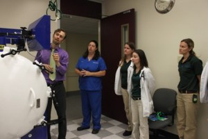 Dr. Justin Shmalberg and students
