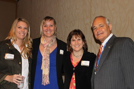 Ambassadors with Dr. Amy Stone and Dean Hoffsis.