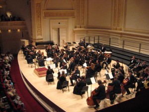 Casey Siljestrom at Carnegie Hall.