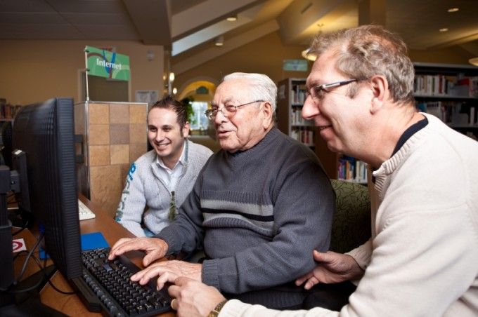 ElderCare offers many volunteers for members of the community.