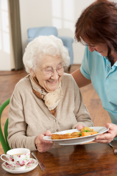ElderCare offers the Meals on Wheels program.