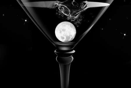 Moonlight & Martinis Plaque Background